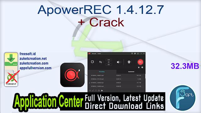ApowerREC 1.4.12.7 + Crack
