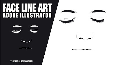Adobe Illustrator CC Face Line Art Tutorial