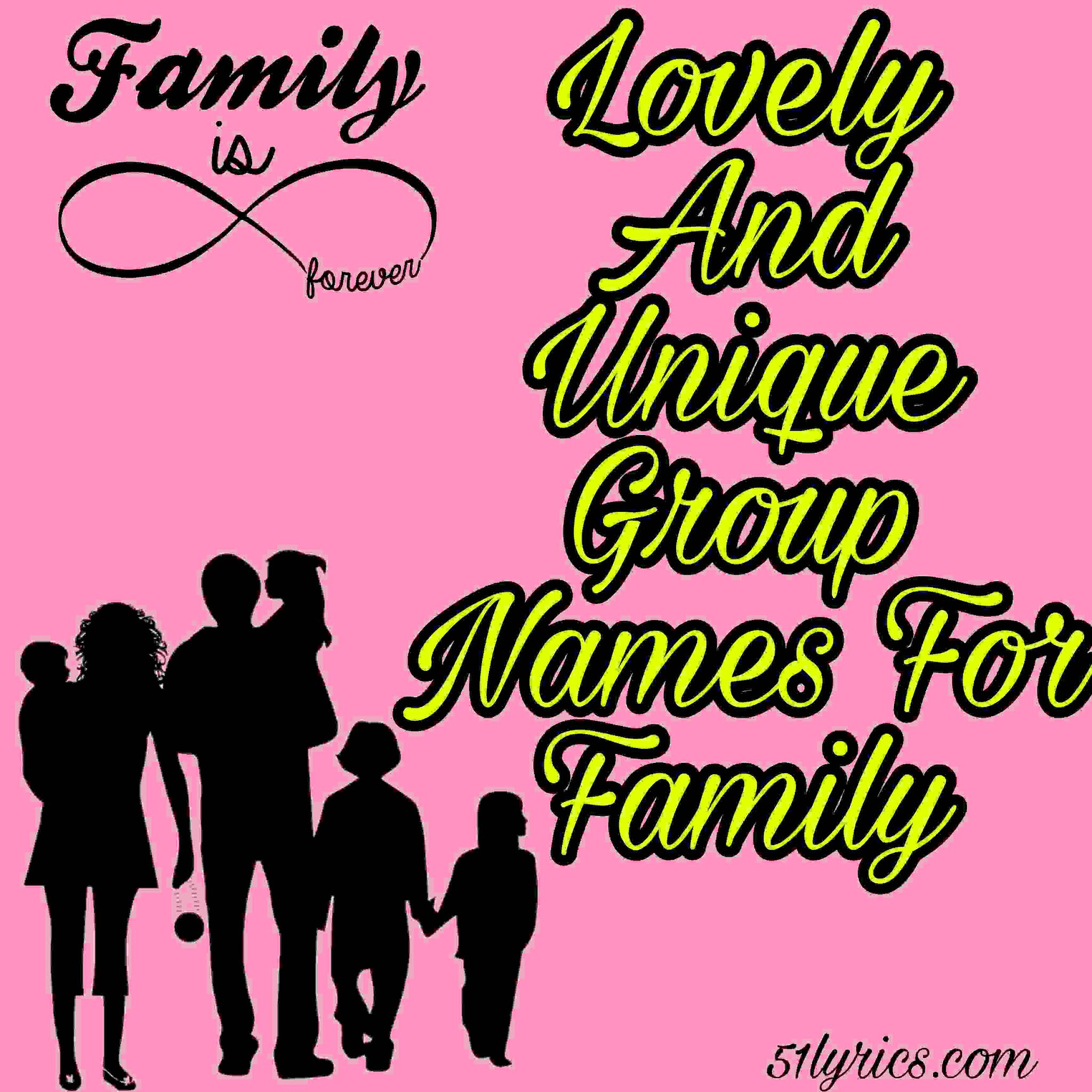 Group names for family