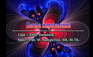 Download Lagu Toraja Kareba Mepakarannu Lagu 90an