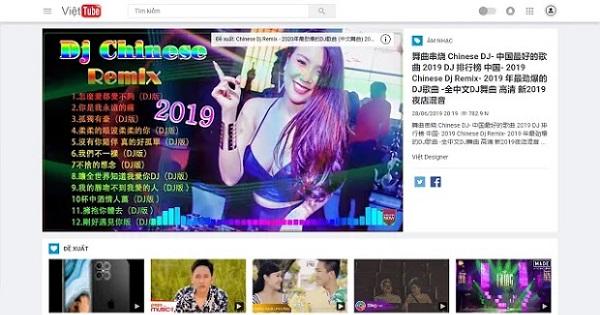 Theme blogspot video đẹp chuẩn seo Việt Tube mẫu 2