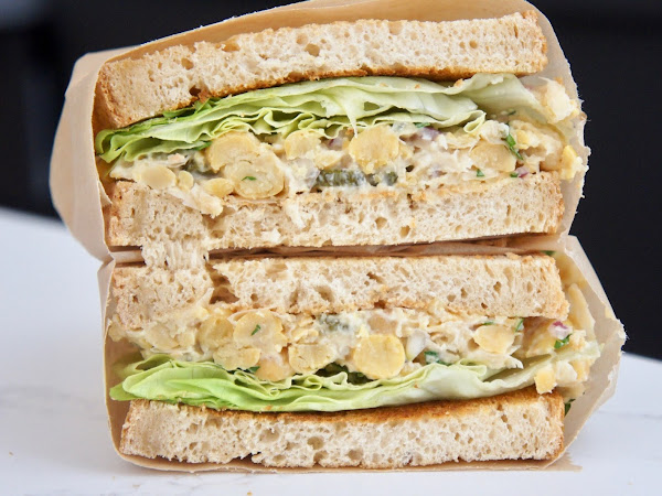REZEPT: glutenfreier Kichererbsensalat-Sandwich mit Fria Brot
