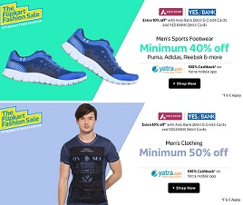 Axis Bank Debit / Credit Cards – Extra 10% Off On Fashion & Lifestyle Products @ Flipkart (Valid on Min Transaction of Rs.1499 or above)