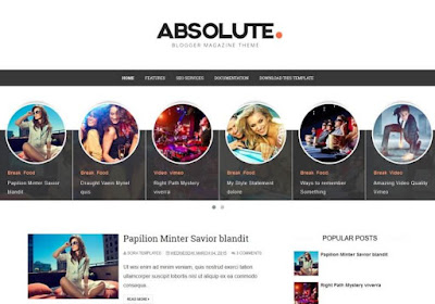 premium Blogger Template download