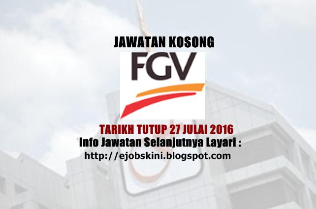 Jawatan Kosong Felda Global Ventures (FGV)
