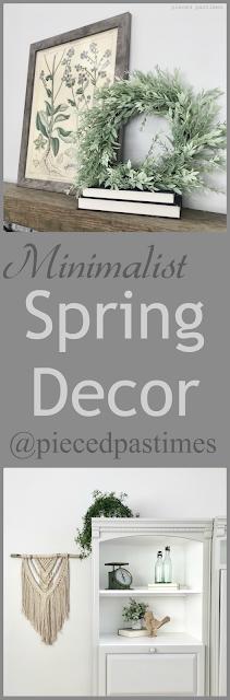 Minimalist Spring Decor at Pieced Pastimes