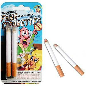 Fake Cigarettes for 80s Guitar Man Costume