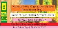 Seeds Development Corporation Limited Recruitment 2017– 106 Clerk, Salesman, Accounts Clerk