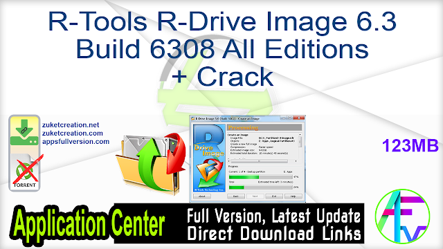 R-Tools R-Drive Image 6.3 Build 6308 All Editions + Crack