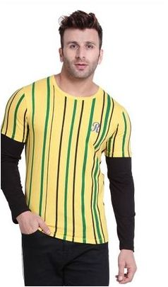 Latest Design Striped Cotton Blend T-Shirt