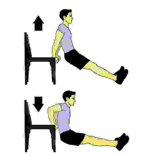 Triceps Dip on Chair