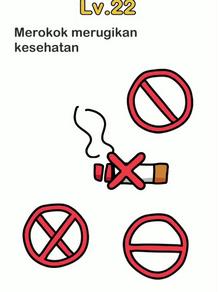 Merokok merugikan kesehatan, kunci jawaban Brain Out Level 22