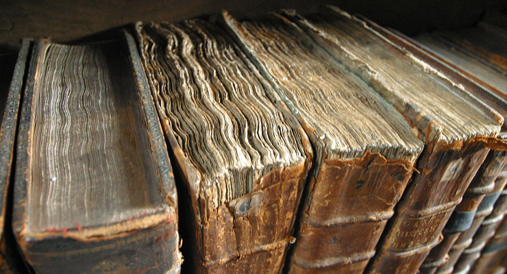 Books in old bindings