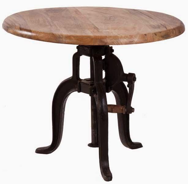 mesa forja y madera