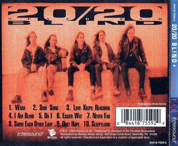 20/20 BLIND - Never Far (1994) back