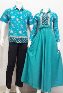 Baju Batik Gamis Sarimbit Kode SRG Batik Bagoes Solo