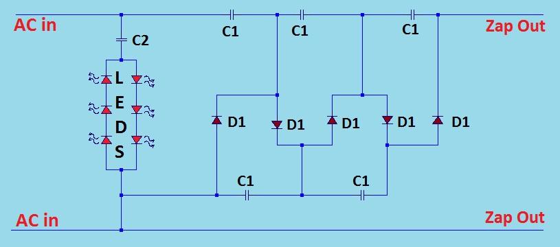 bug zapper circuit | simple electronics