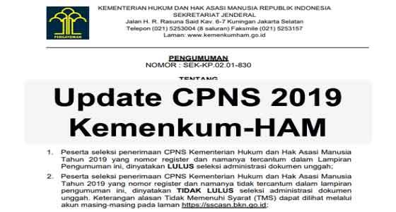 langkah selanjutnya setelah lulus seleksi administrasi cpns 2019 kemenkumham