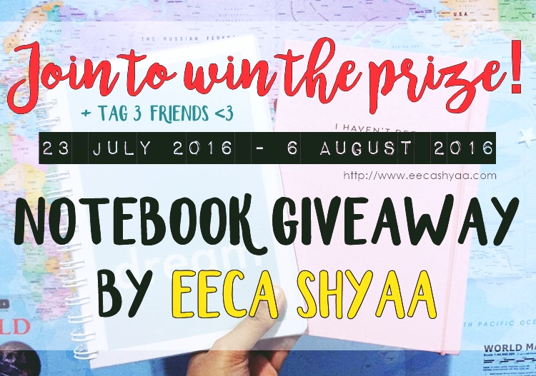 notebook giveaway eeca shyaa