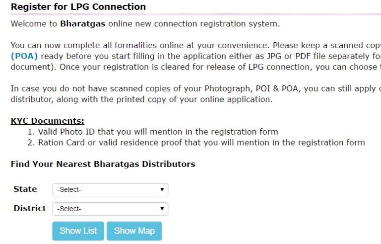 Bharat Gas New Connection Form Pdf