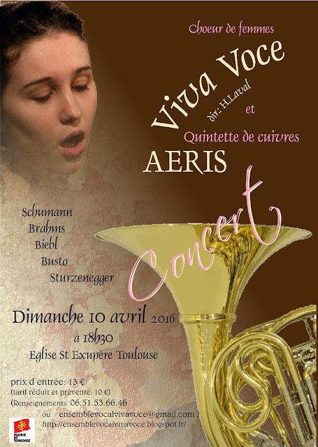 affiche concert Viva Voce et Aéris 10 avril 2016