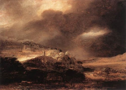 Paisaje intempestuoso - Rembrandt