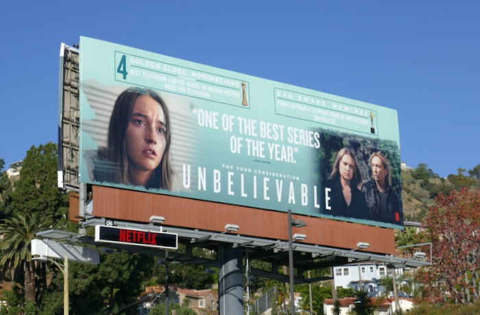 Unbelievable SAG Award nominee billboard