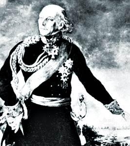 Yorck von Wartenburg, detalle de un retrato de Karl Hermann