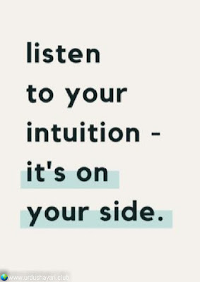 Listen  To Your  Intuition-  It's On  Your Side..!!  #Inspirationalquotes #motivationalquotes  #quotes