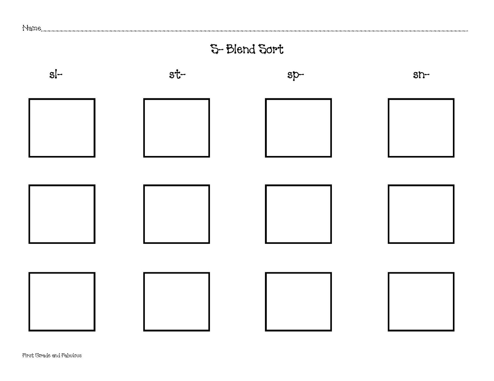 First Grade And Fabulous Just A Sort Sheet