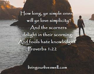 Proverbs 1:22