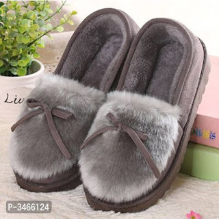 Imported Pretty Suede Women Winter Slippers