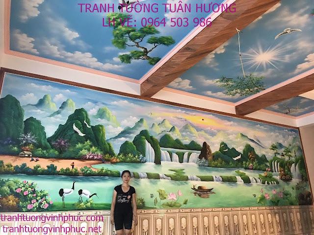 vẽ tranh tường tại thị trấn yên lạc vĩnh phúc1