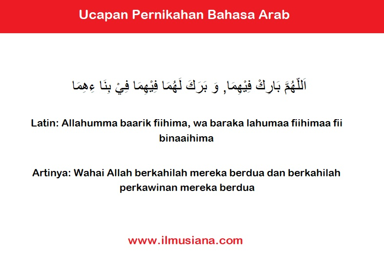 4. Ucapan Pernikahan Bahasa Arab Islami