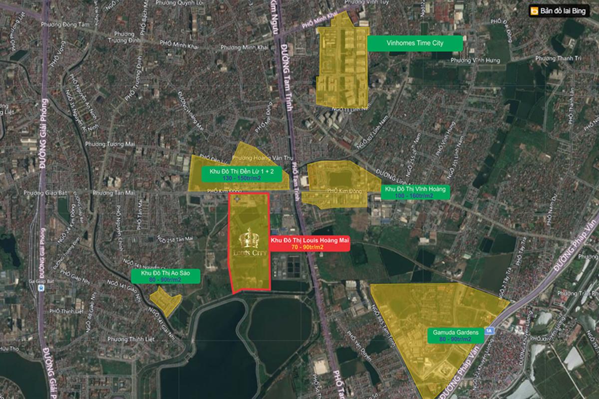Vị trí Louis City Hoàng Mai