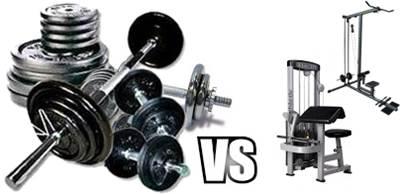 Mancuernas y barras para ganar masa muscular en personas delgadas