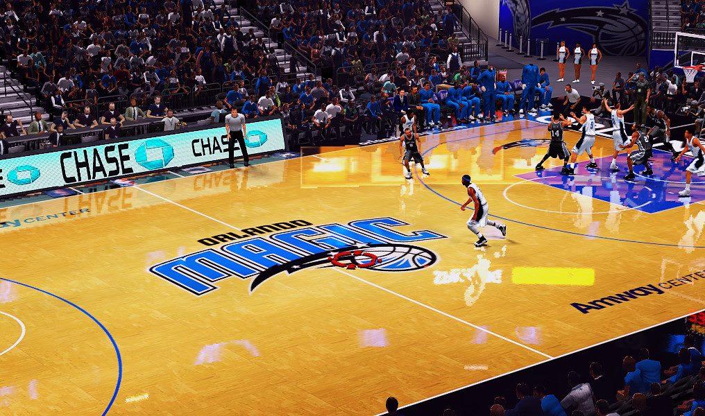 competitive price 28e92 51ed6 NBA 2K14 Orlando Magic Floor by MPP2K