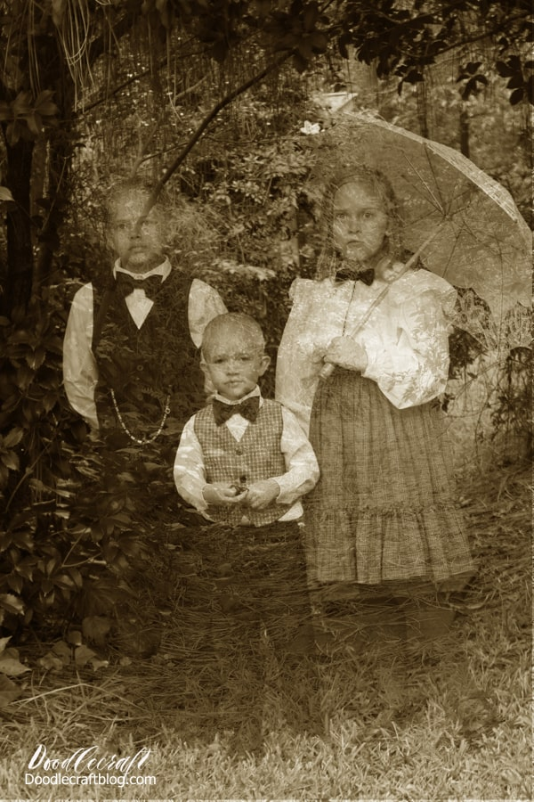 Ghost hunting in the cemetery! Haunting Ghost Children caught on camera from Victorian age! Halloween Photograph Editing Tutorial
