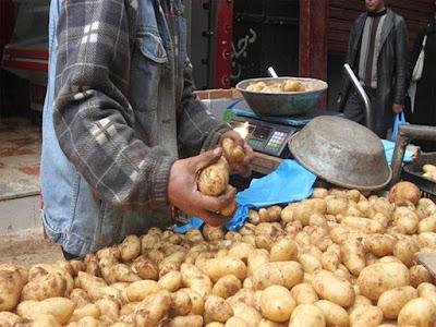 أسعار البطاطس, سوق الجملة, أسعار الخضروات, أسعار الفاكهة,