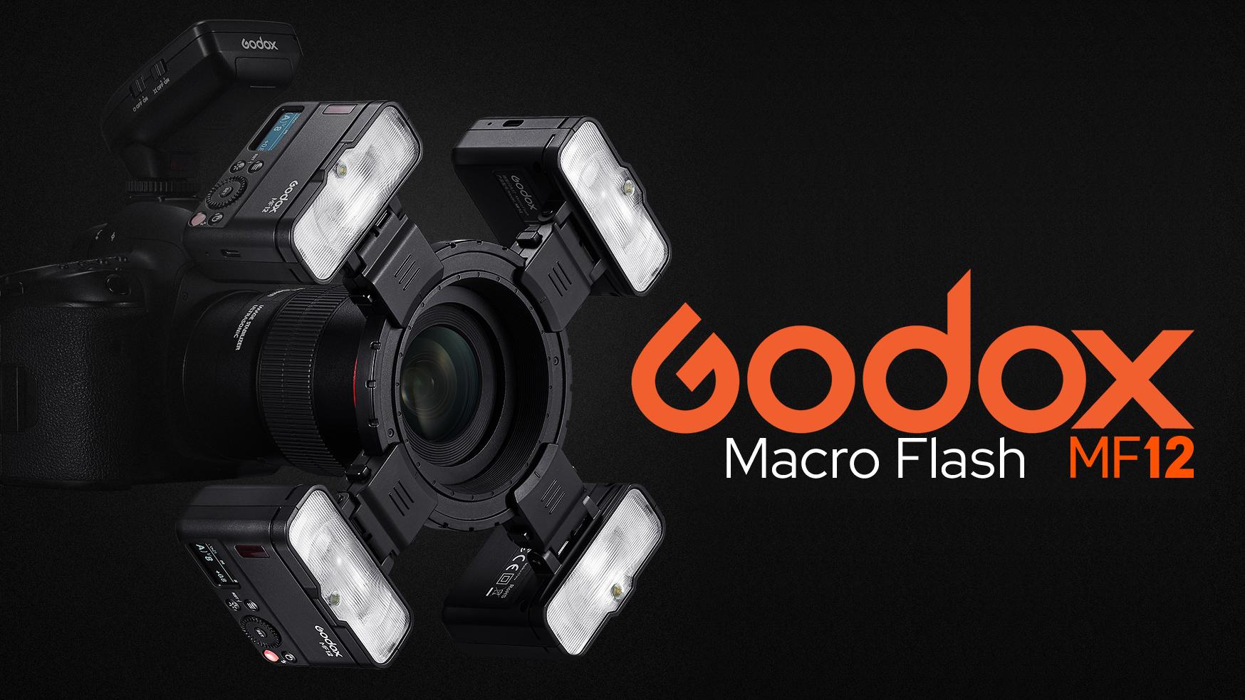 Макровспышка Godox MF12, четыре штуки на объективе камеры