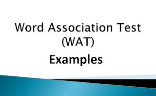 Word Association Test (WAT ) Examples