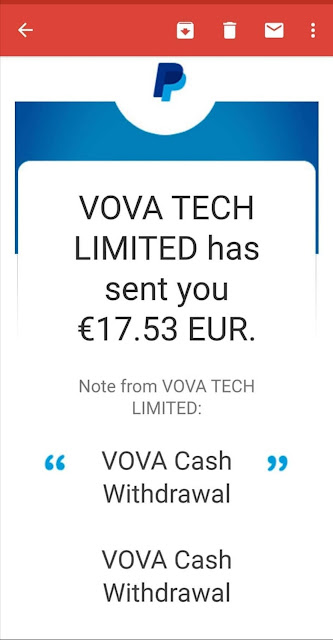 Vova payment proof