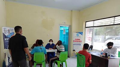 Jasa Raharja dan DPC Organda Kota Bima Beri Pelayanan Kesehatan MUKL dan Rapid Test Gratis