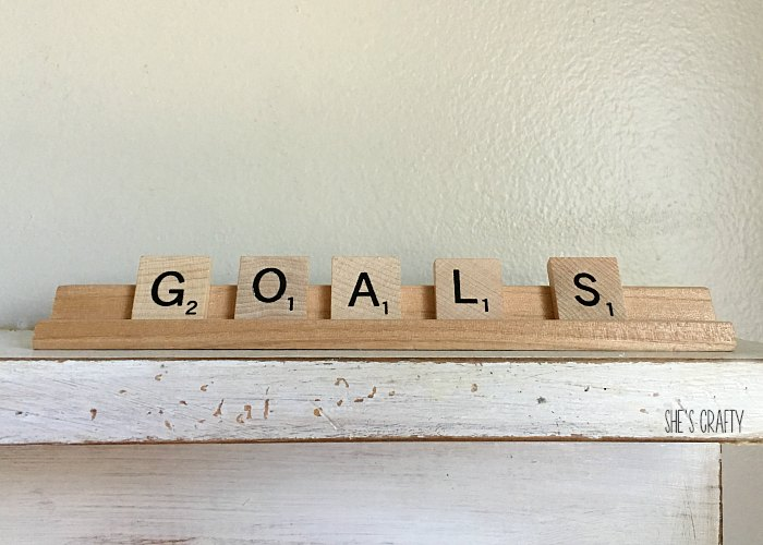 Goals, scrabble letters, words