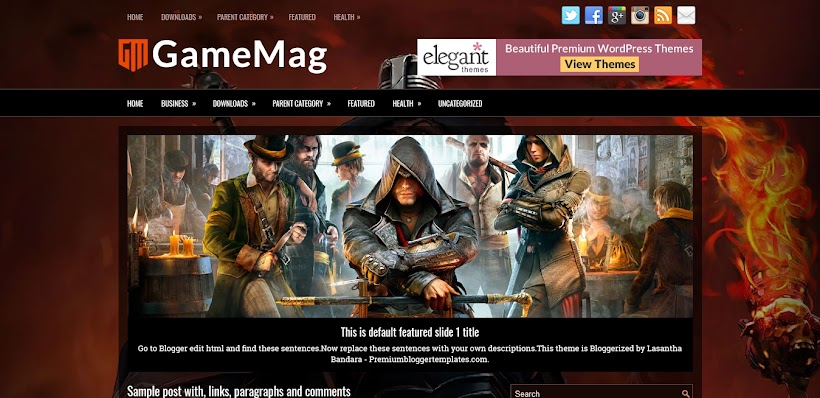 GameMag Free Blogger Template