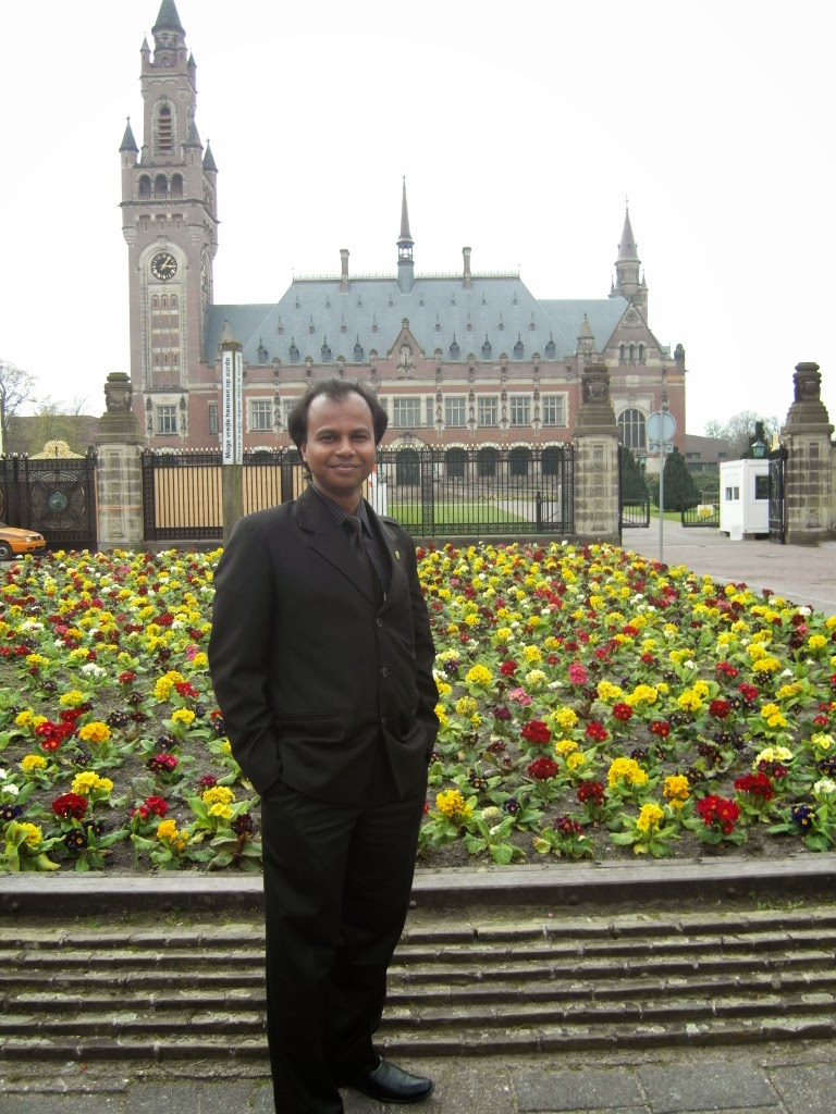 In Front of International Court of Justice, Netherlands