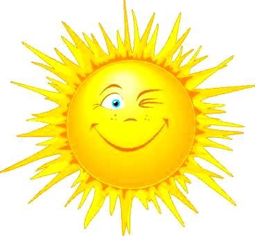 Dibujo del sol radiante a color
