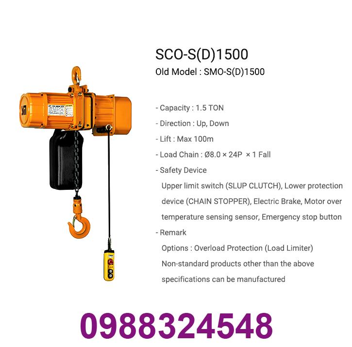 palang điện xích Samsung SCO-S1500 1.5 tấn