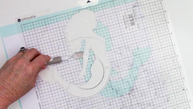 3D paper designs, paper crafts, adhesives, cameo 4, paper scraper tool