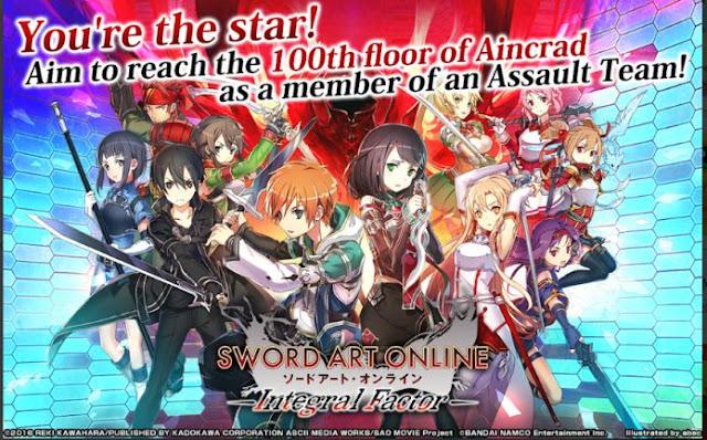Game SAO Android Terbaru Sword Art Online Integral Factor APK